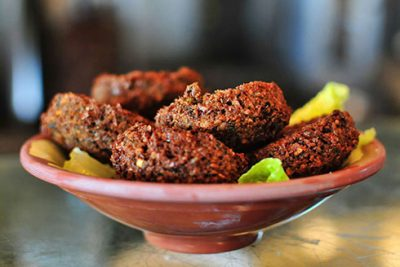 falafel at Aladdin Cafe near California Suites Hotel